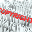 Copyright Background Conceptual Design. — Stock Photo