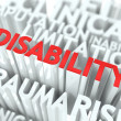 Stock Photo: Disability Background Conceptual Design.