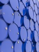 Oil Barrels Stacked Up. — Stock Photo
