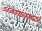 Statistics Background Conceptual Design. — Stock Photo