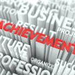 Stock Photo: Achievement Background Conceptual Design.