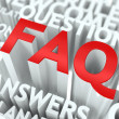 FAQ Concept. — Stock Photo