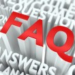 FAQ Concept. — Stock Photo #22586615