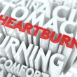 Stock Photo: Heartburn Concept.