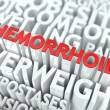 Hemorrhoid Concept. - Stock Photo