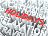Holidays Concept. — Stock Photo
