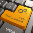 Stock Photo: Keyboard with Web Development Button.