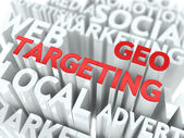 Geo Targeting Concept. — Stock Photo