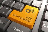 Keyboard with Web Development Button. — Stock Photo