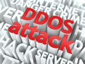 DDOS Attack Concept. — Stock Photo