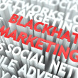 Blackhat Marketing Concept. — Stock Photo