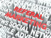 Referal Marketing Concept. — Stock Photo