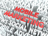 Mobile Marketing Concept. — Stock Photo