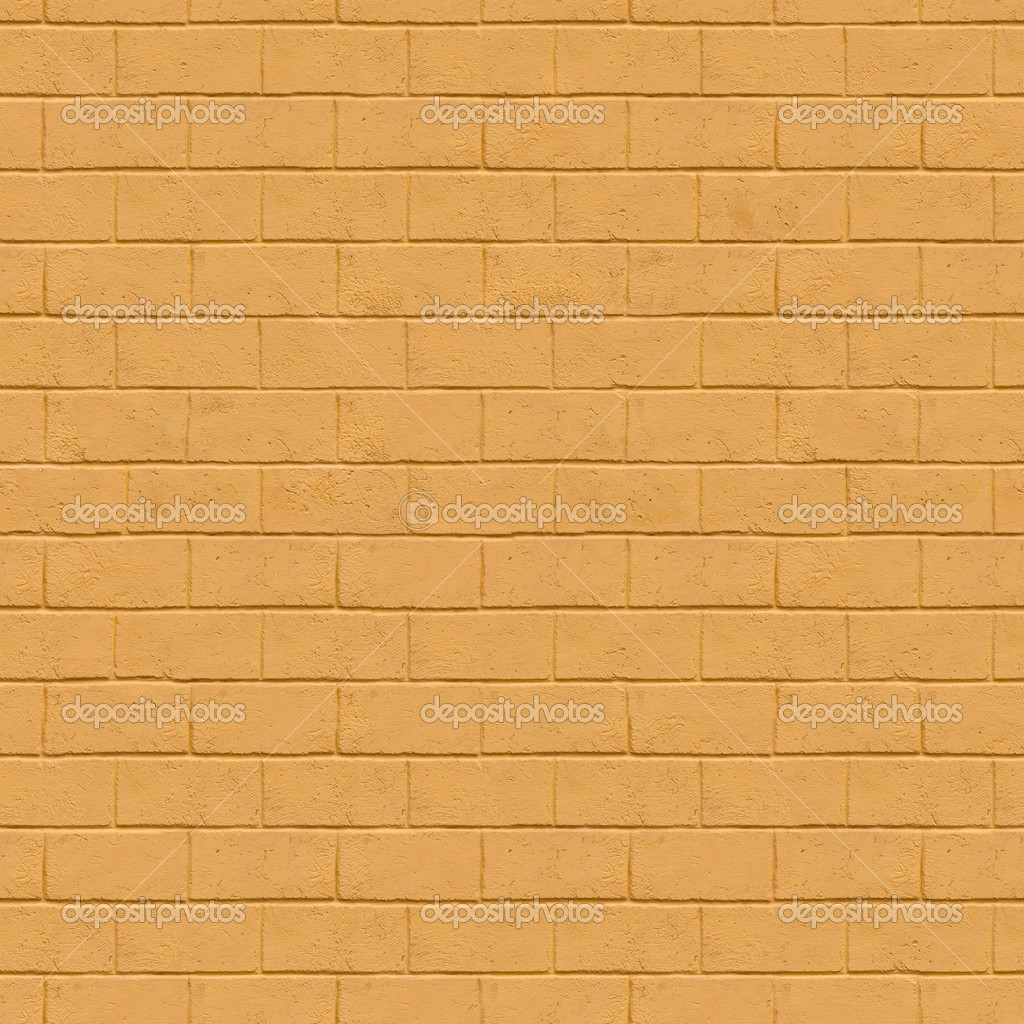 Seamless Texture of Yellow Brick Wall. — Stock Photo ...