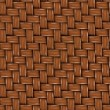 Stock Photo: Seamless Texture of Brown Wooden Rattan.