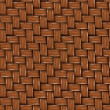 Seamless Texture of Brown Wooden Rattan. — Stock Photo #23987805