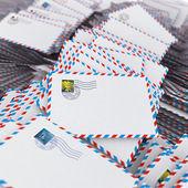 Högen av kuvert. — Stockfoto