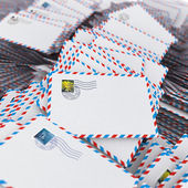 Pilha de envelopes. — Foto Stock