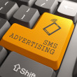 SMS Advertising Button. — Stockfoto
