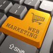 Web Marketing Button. - Lizenzfreies Foto