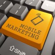 Stock Photo: Mobile Marketing Button.