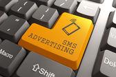 SMS Advertising Button. — Stock Photo