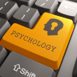 Keyboard with Psychology Button. — Stock Photo