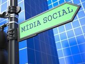 Social Media Concept. (Portuguese) — Stock Photo
