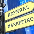Business Concept. Referal Marketing Sign. — Stock Photo #24596861