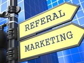 Business Concept. Referal Marketing Sign. — Stock Photo