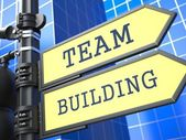 Business Concept. Team Building Sign. — Stock Photo