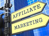Business Concept. Affiliate Marketing Sign. — Stock Photo