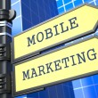Business Concept. Mobile Marketing Sign. — Stock Photo