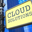 Stock Photo: Internet Concept. Cloud Solutions Waymark.
