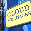 Internet Concept. Cloud Solutions Waymark. — Stock Photo #24870101