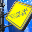 Ecology Concept. Ecological Disaster Waymark. — Stock Photo