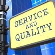 Business Concept. Service and Quality Waymark. — Stock Photo