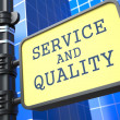 Business Concept. Service and Quality Waymark. - Stock Photo