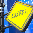 Business Concept. Blackhat Marketing Waymark. - Stock Photo
