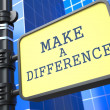 Make a Difference. — Stock Photo