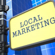 Stock Photo: Business Concept. Local Marketing Waymark.