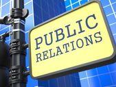 PR Concept. Public Relations Waymark. — Stock Photo