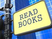 Education Concept. Read Books Sign. — Stock Photo