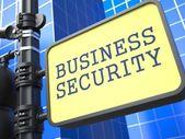 Security Concept. Waymark on Blue Background. — Stock Photo