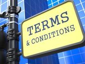 Business Concept. Terms and Conditions Waymark. — Stock Photo