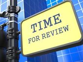 Business Concept. Time for Review Waymark. — Stock Photo