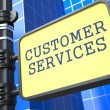 Service Concept. Customer Services Roadsign. - Stock Photo