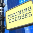 Stock Photo: Education Concept. Training Courses Roadsign.