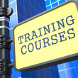 Education Concept. Training Courses Roadsign. — Stock Photo
