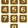 3D Set of Gold Metal Numbers. — Stock Photo